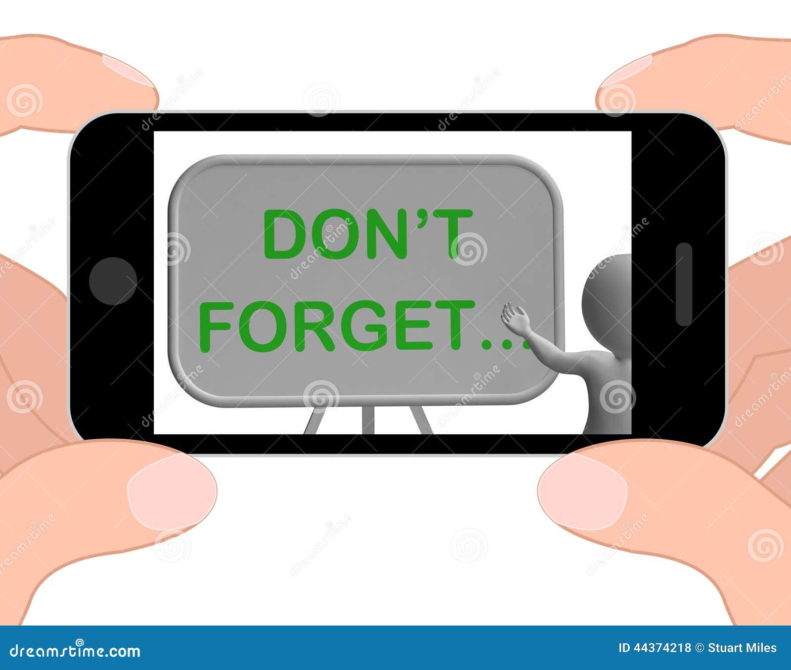 Non dimentichi le manifestazioni del telefono che ricordano le mansioni ed il ricordo