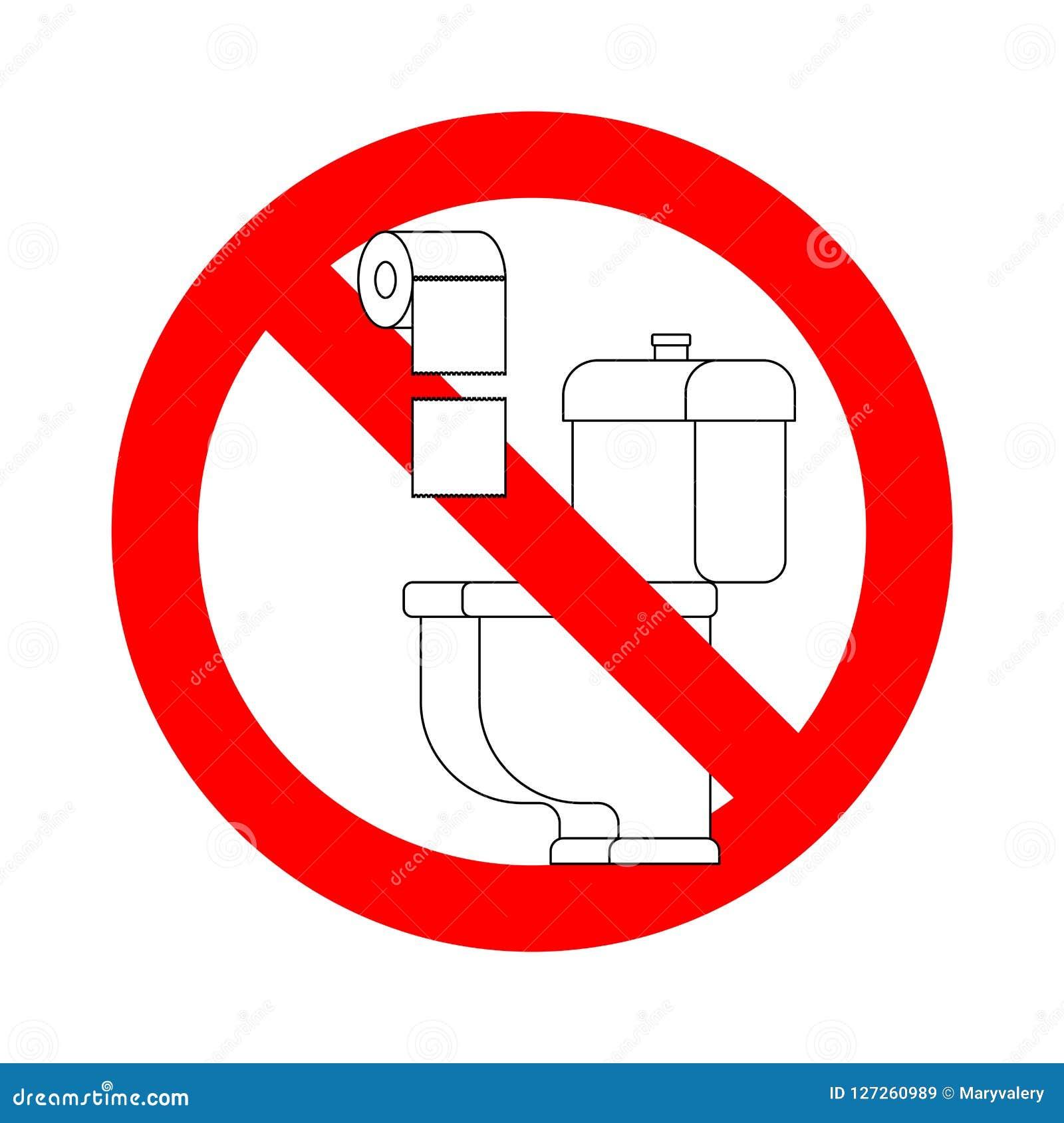 Non getti gli asciugamani di carta nella toilette Il fanale di arresto Divieto per il WC