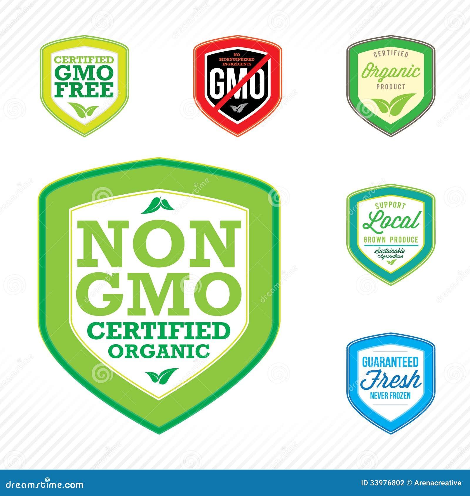 Non gmo labels stock vector illustration of guarantee 33976802 non gmo labels buycottarizona Images