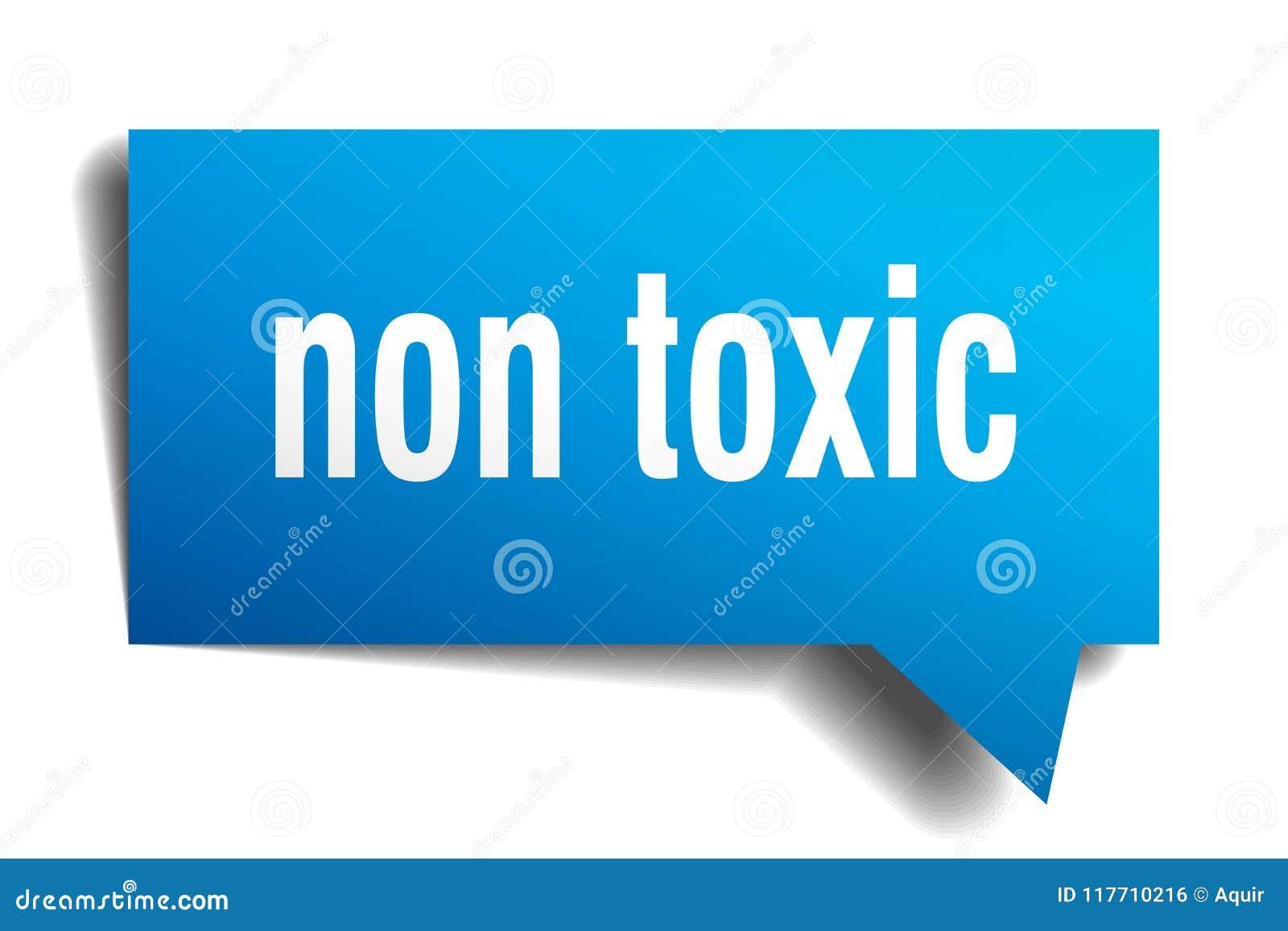 Non toksyczny błękita 3d mowy bąbel