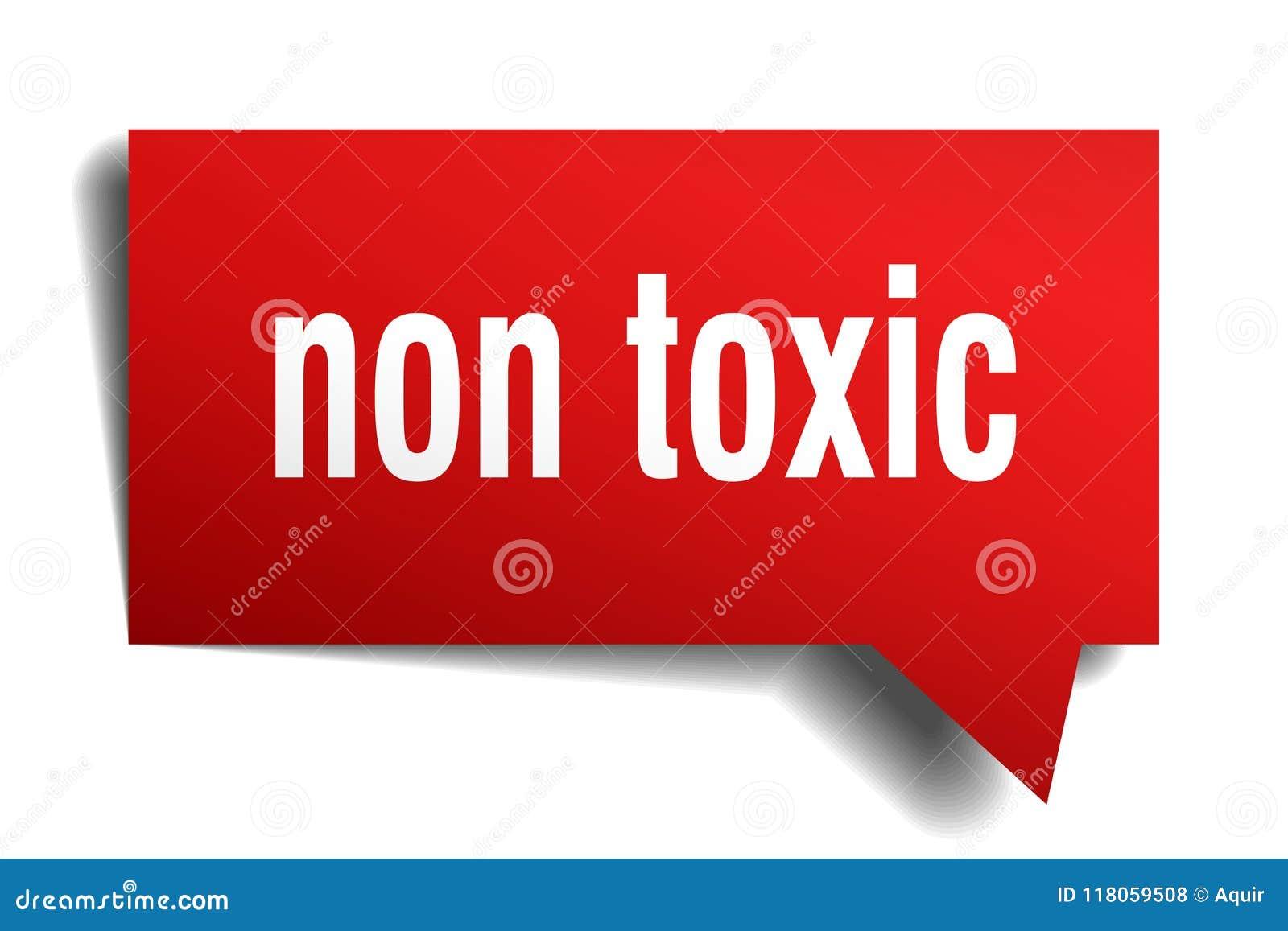 Non toksyczny czerwieni 3d mowy bąbel