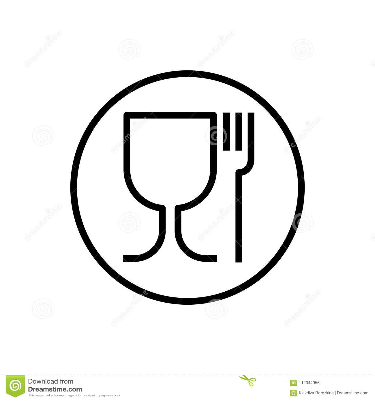 Non toxic material symbol glass and fork vector stock vector non toxic material symbol glass and fork vector biocorpaavc Images