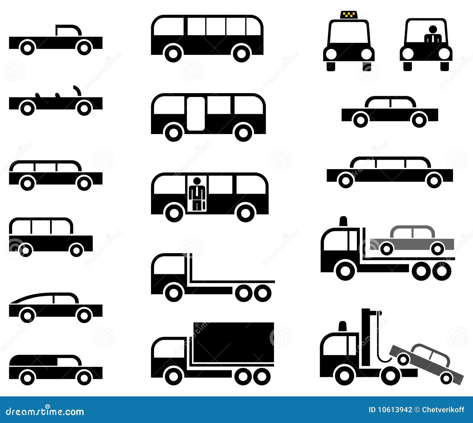 货车模型-机体公车运送汽车汽车不同的图表被传统化的拖车类型