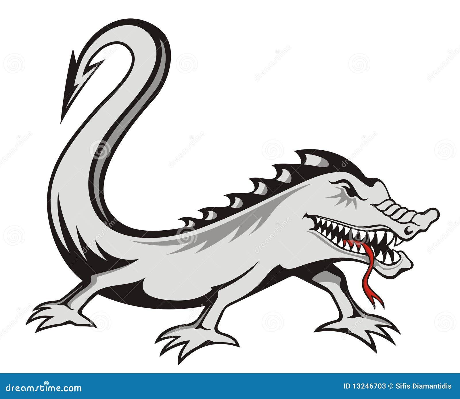 背景罪恶查出的蜥蜴纹身花刺白色.