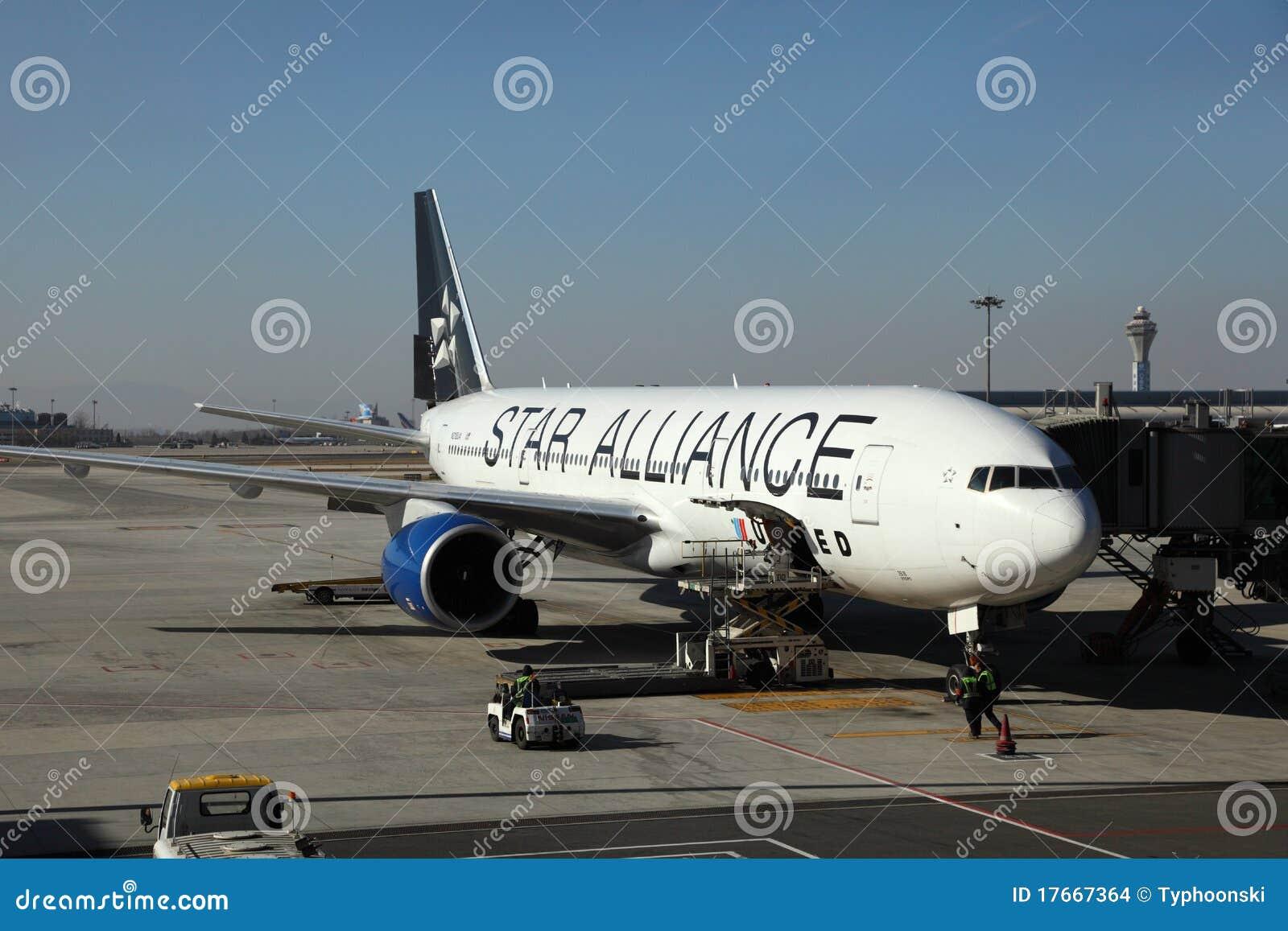 飞机的星形�yb�9�._2010个第6个被采取的航空器机场联盟北京资本12月国际照片星形.