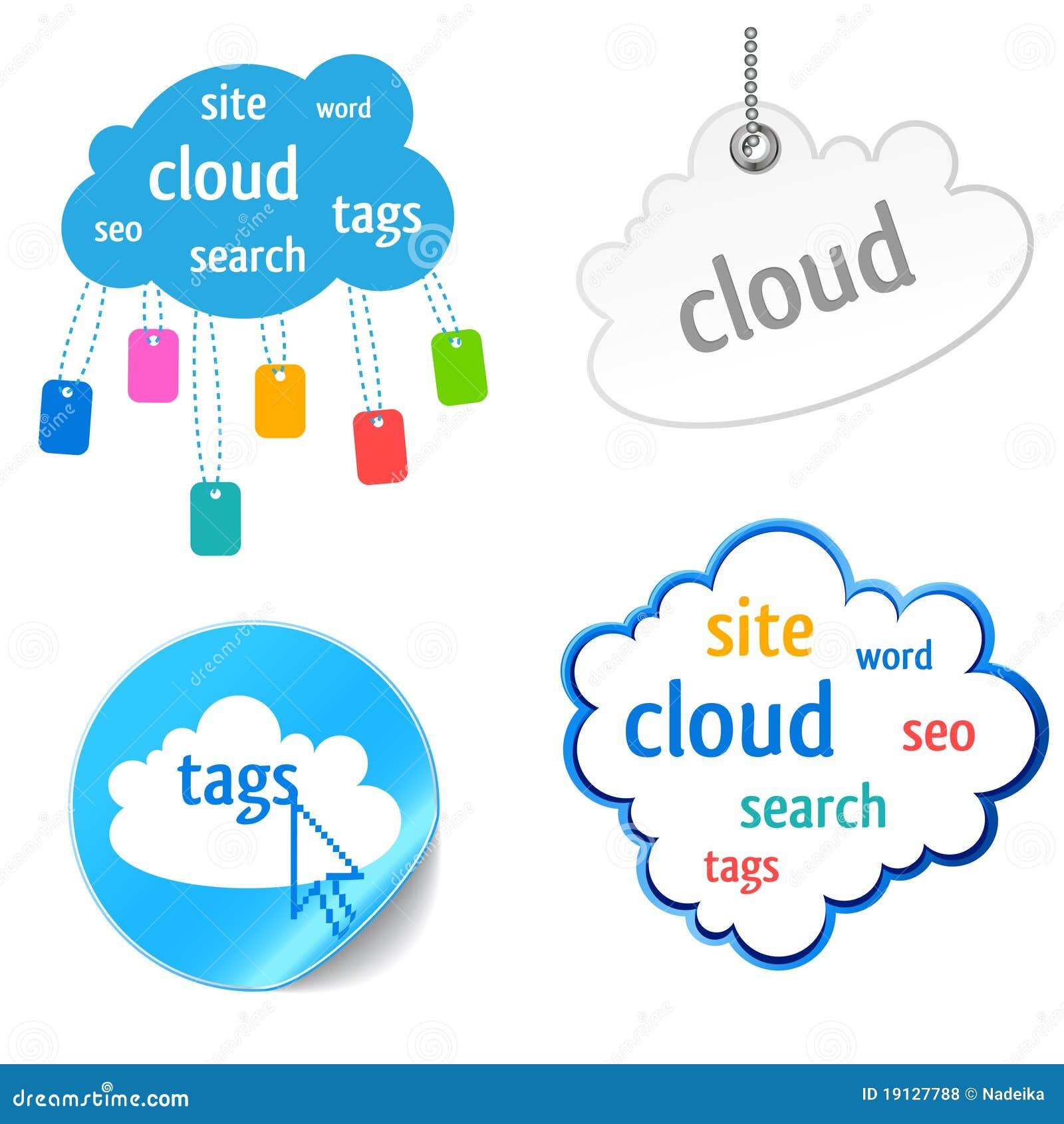 云彩图标标签