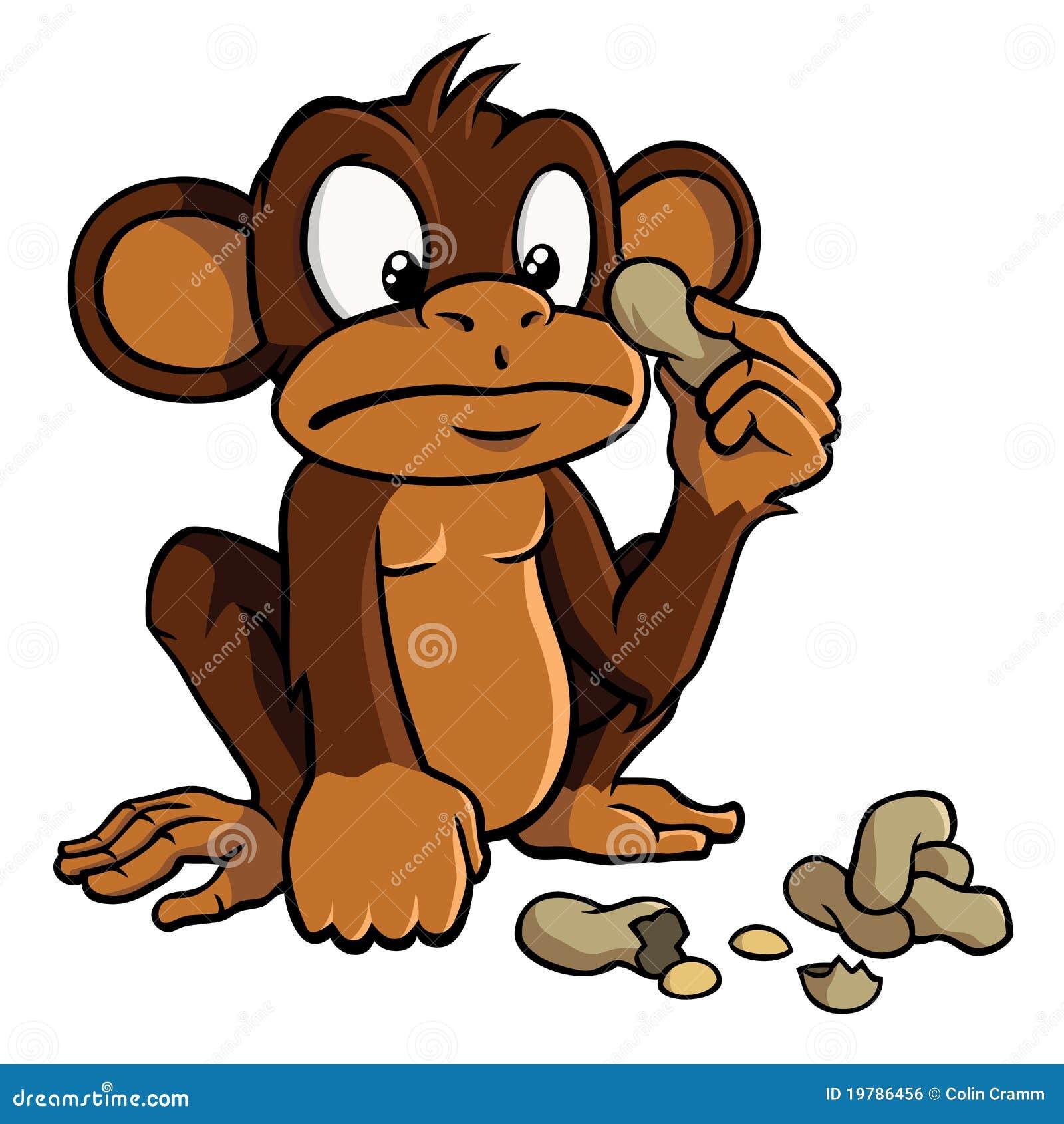 动画片猴子花生图片