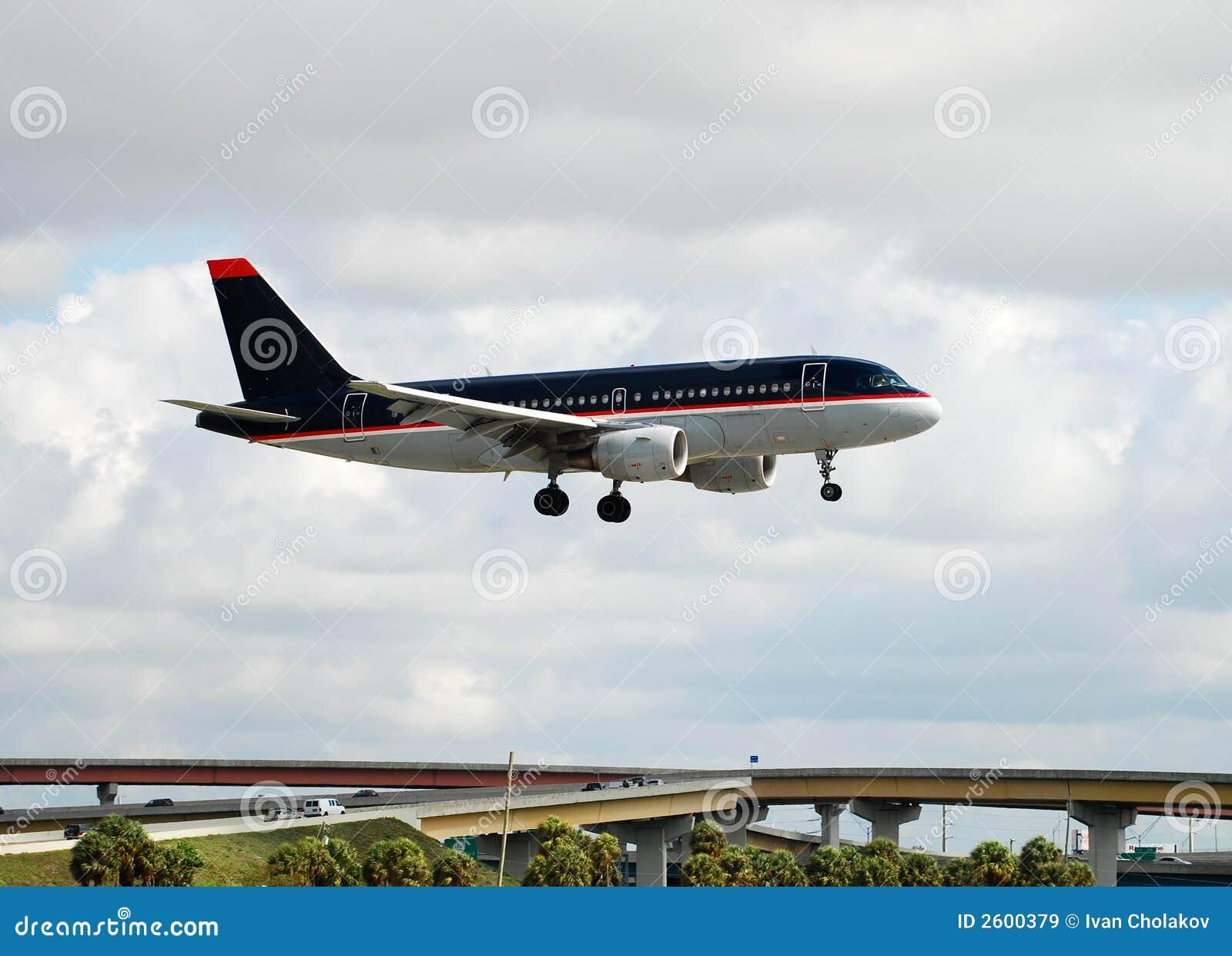 飞机喷气机着陆
