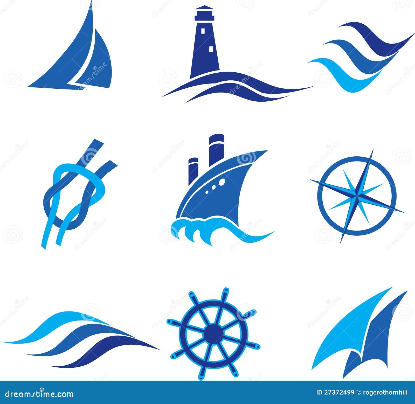 морские логотипы: