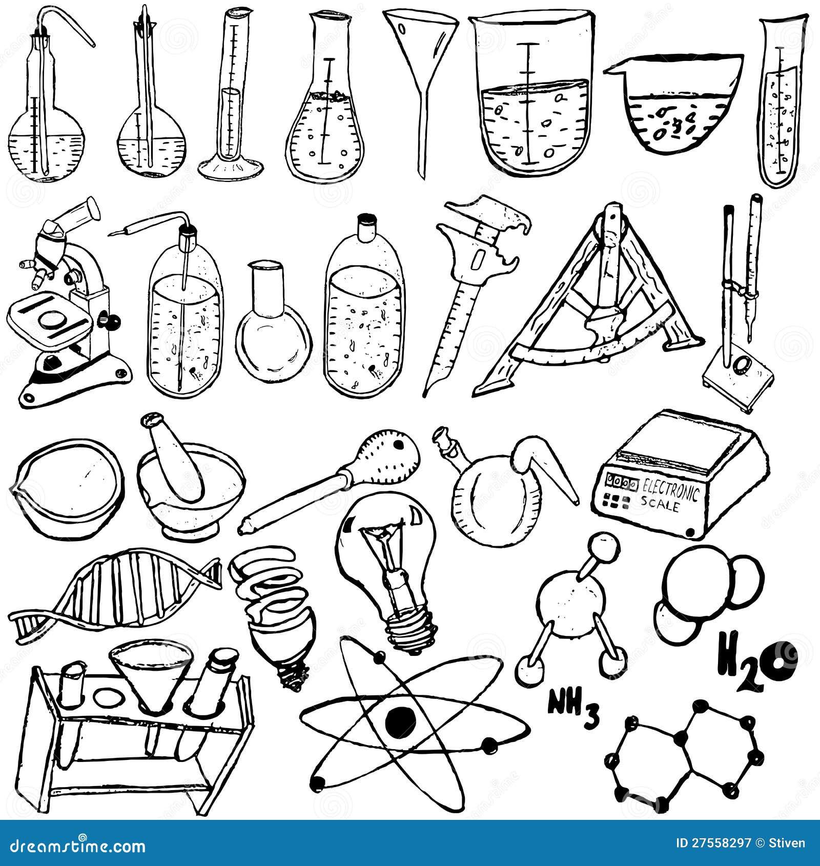 科学图标草图