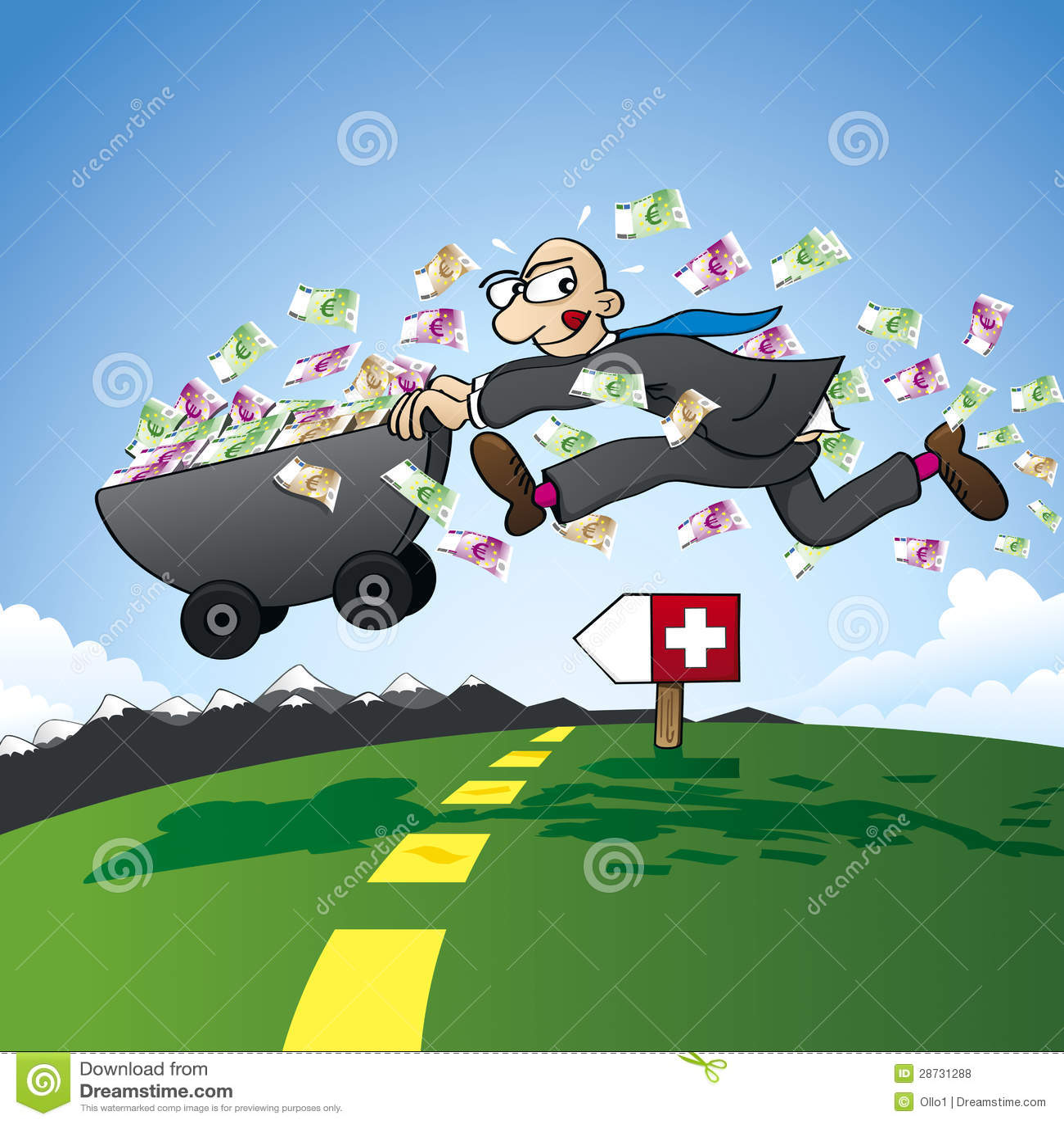 偷税漏税-走私储蓄向瑞士图片
