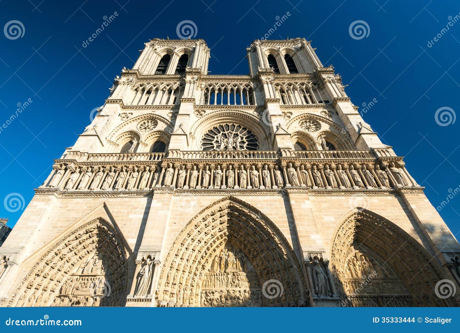 巴黎圣母院,法国大教堂.
