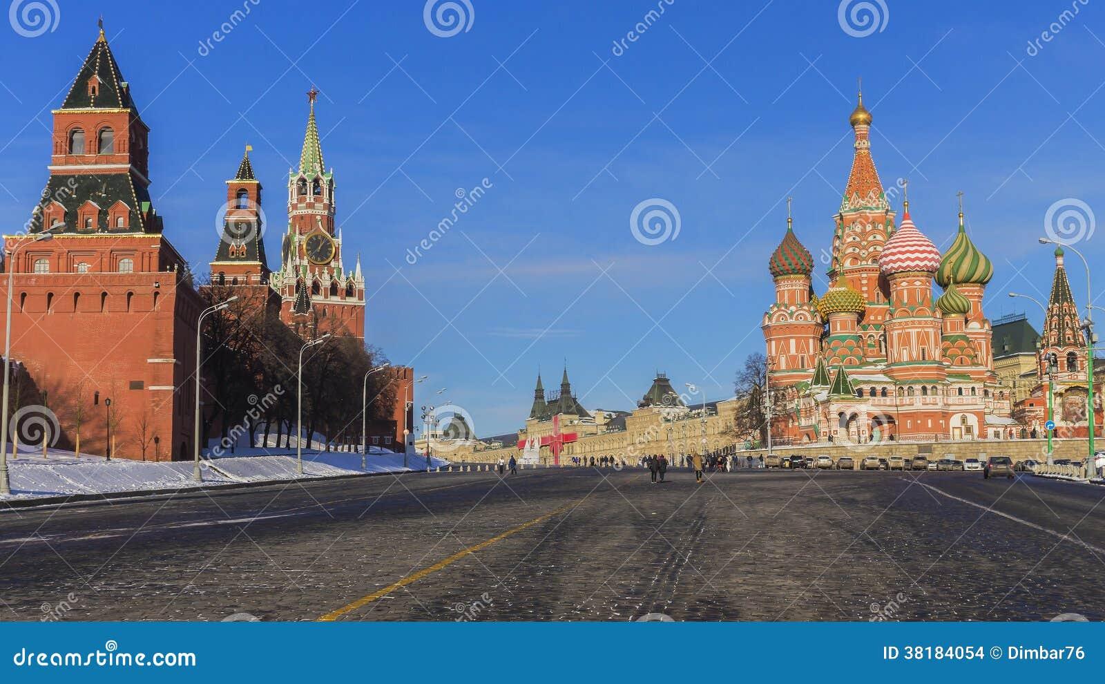 红场(克里姆林宫和圣蓬蒿的大教堂 ) 莫斯科,俄罗斯.图片