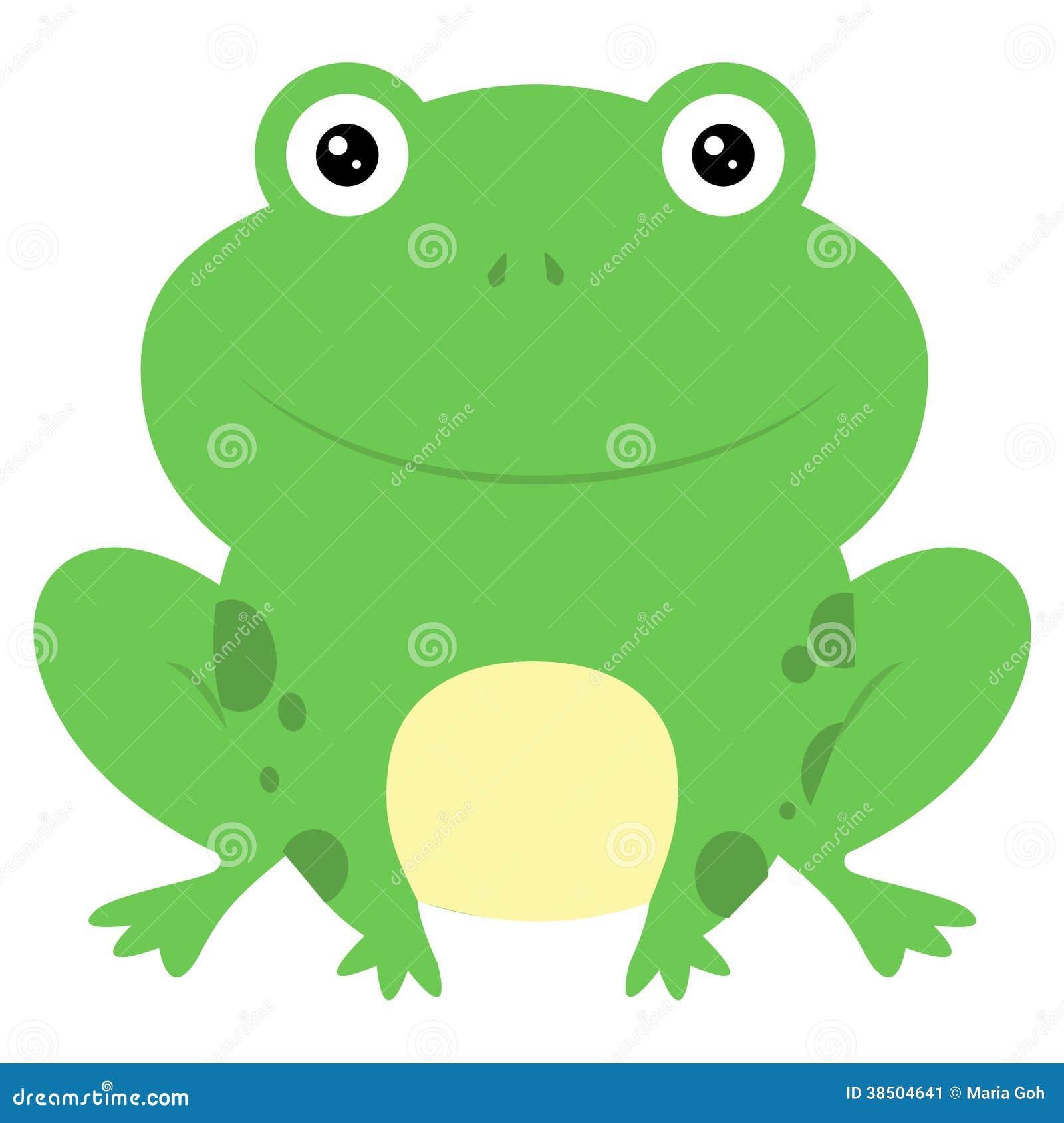 供以座位的逗人喜爱的动画片小青蛙.图片