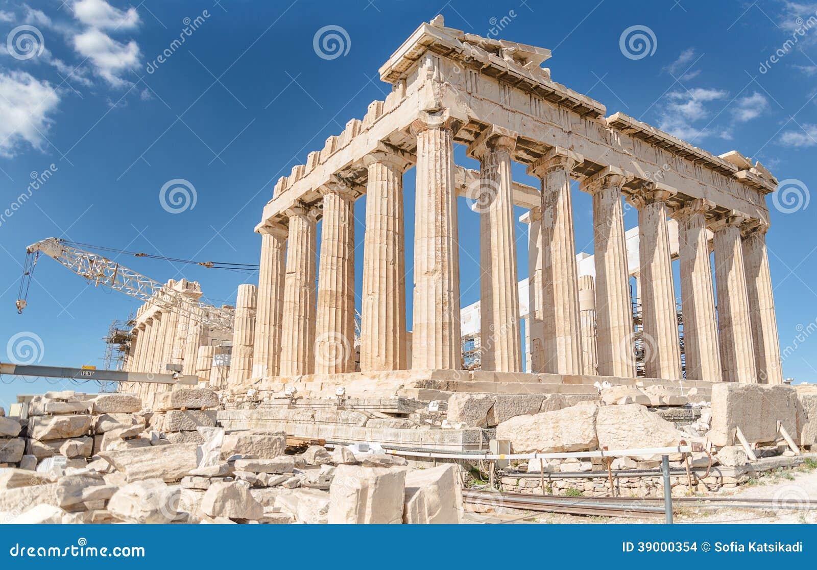 帕台农神庙在上城,希腊