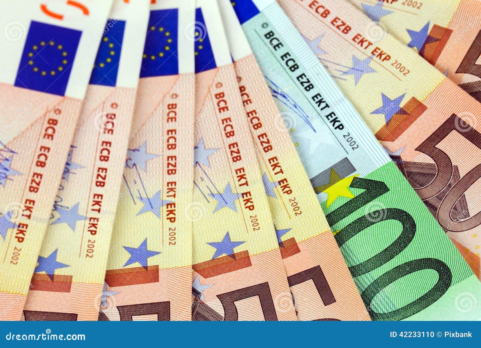 很多欧洲钞票 库存照片 - 图片: 42233110