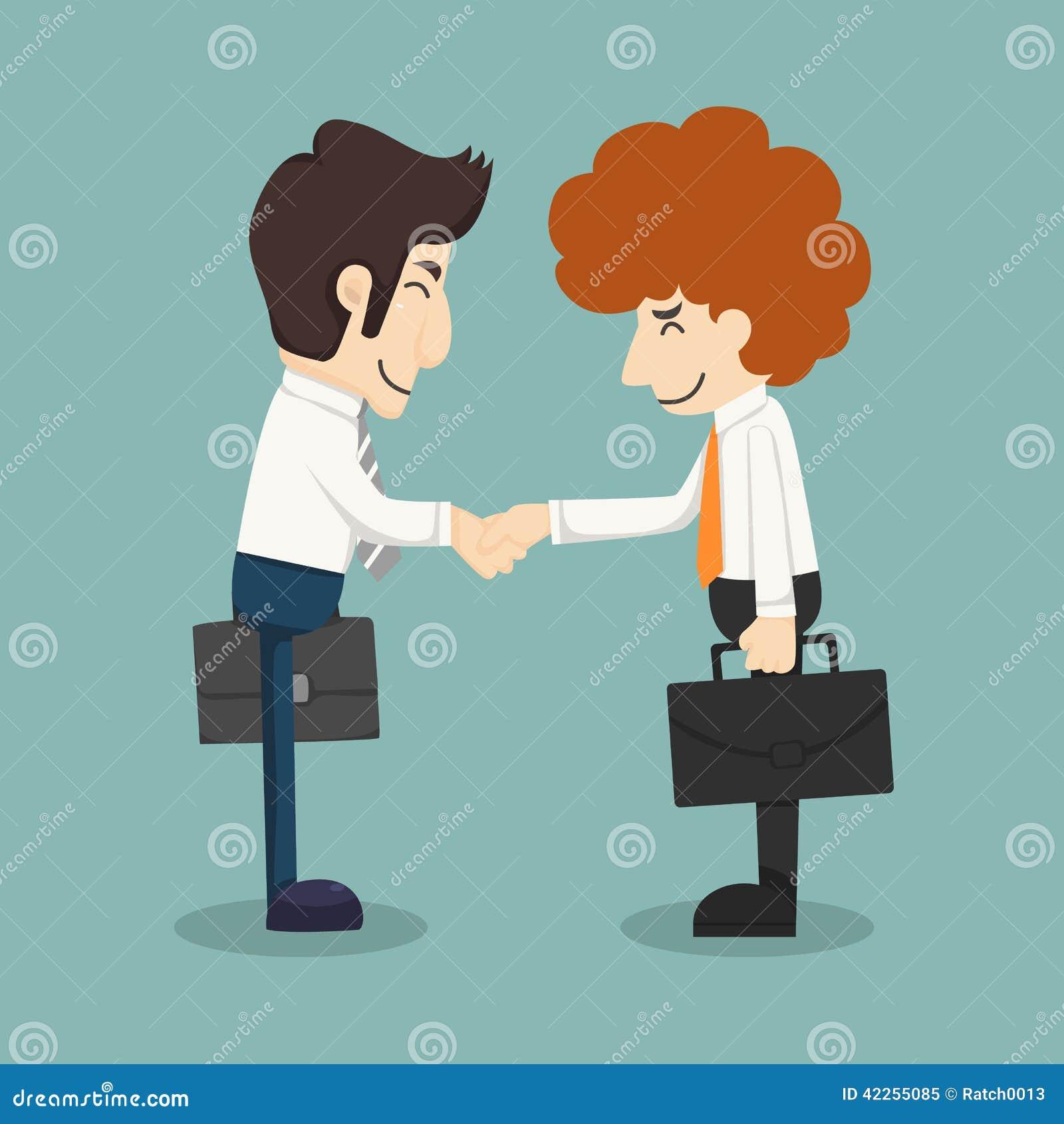商人握手,做成交的商人图片