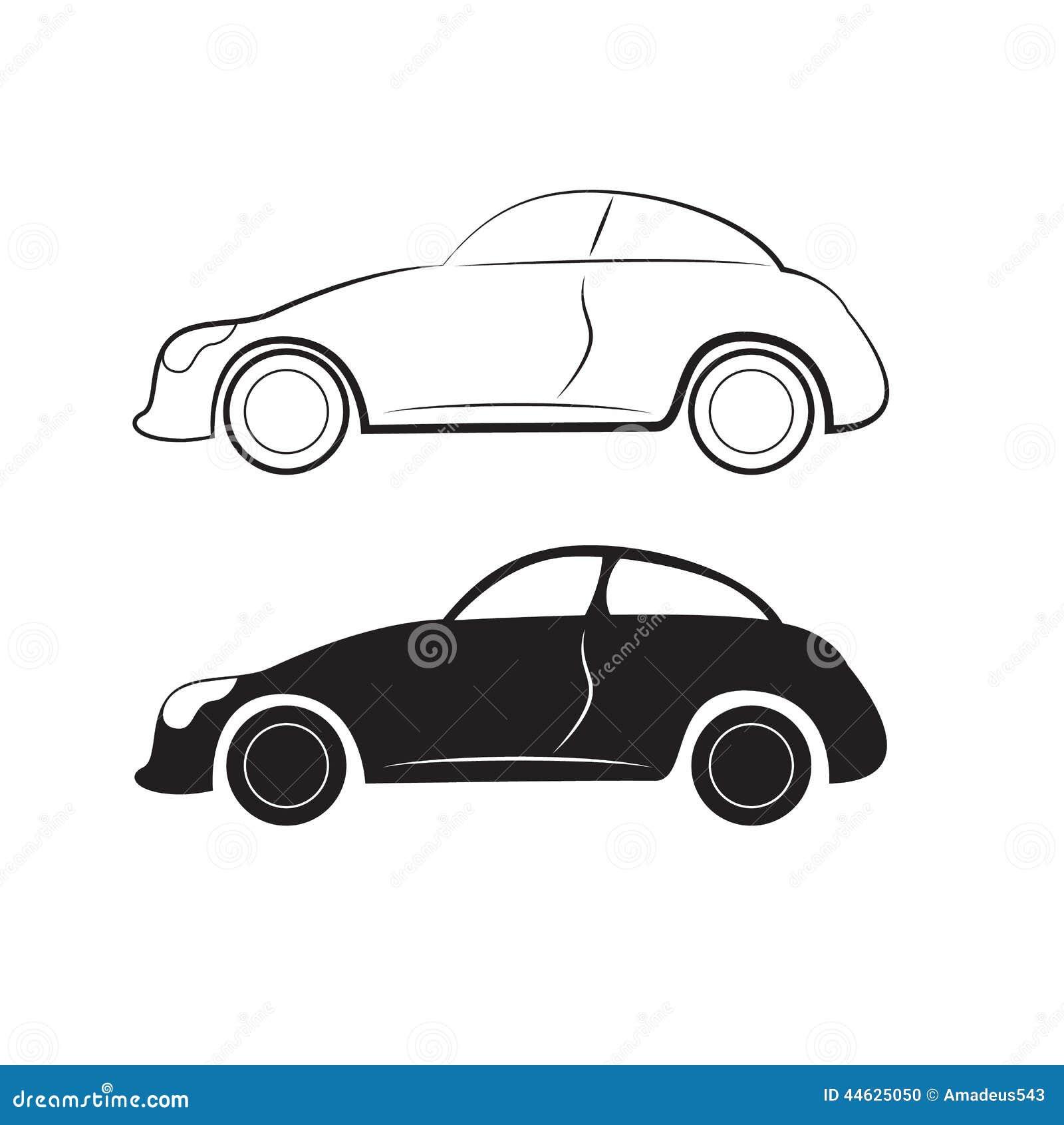 设计侧视图的汽车剪影高清图片