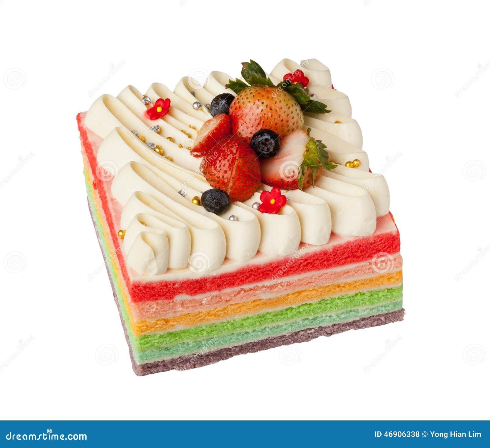 彩虹蛋糕图片