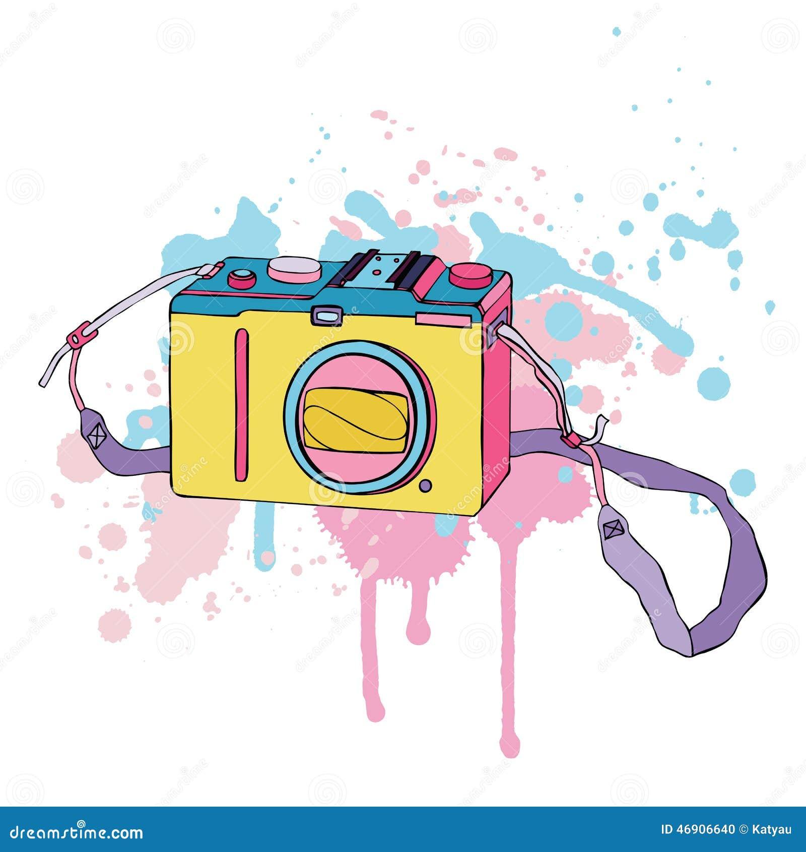 传染媒介照片照相机