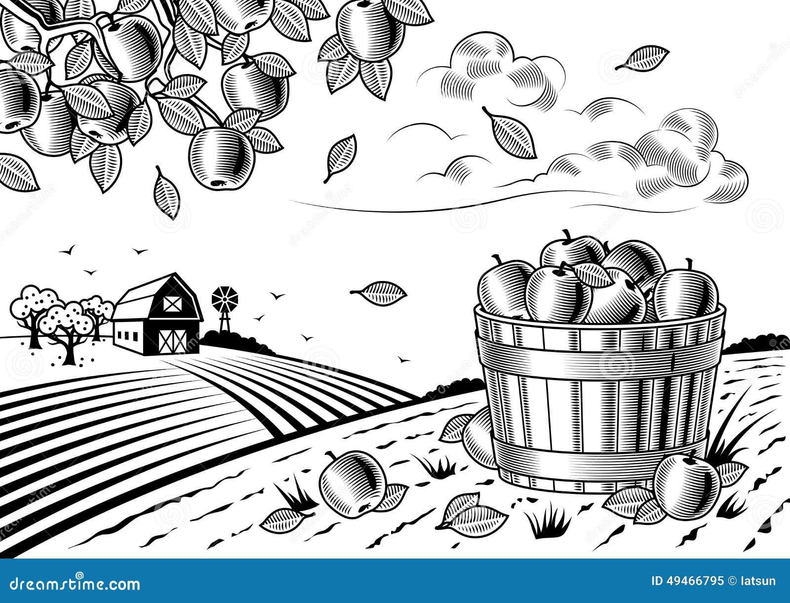 黑白风景手绘图片-风景漫画手绘图片-手绘黑白风景画-彩铅手绘图片图片