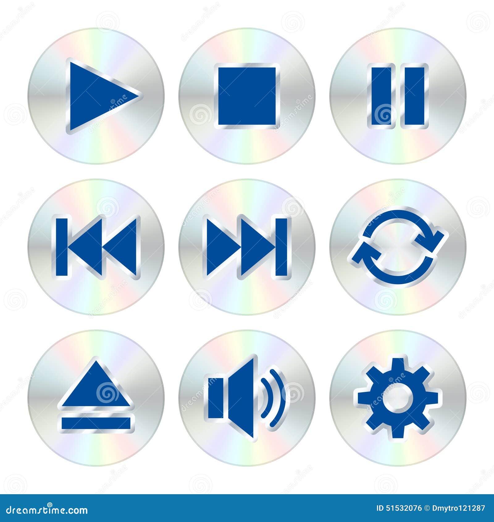 音乐播放器按钮图片
