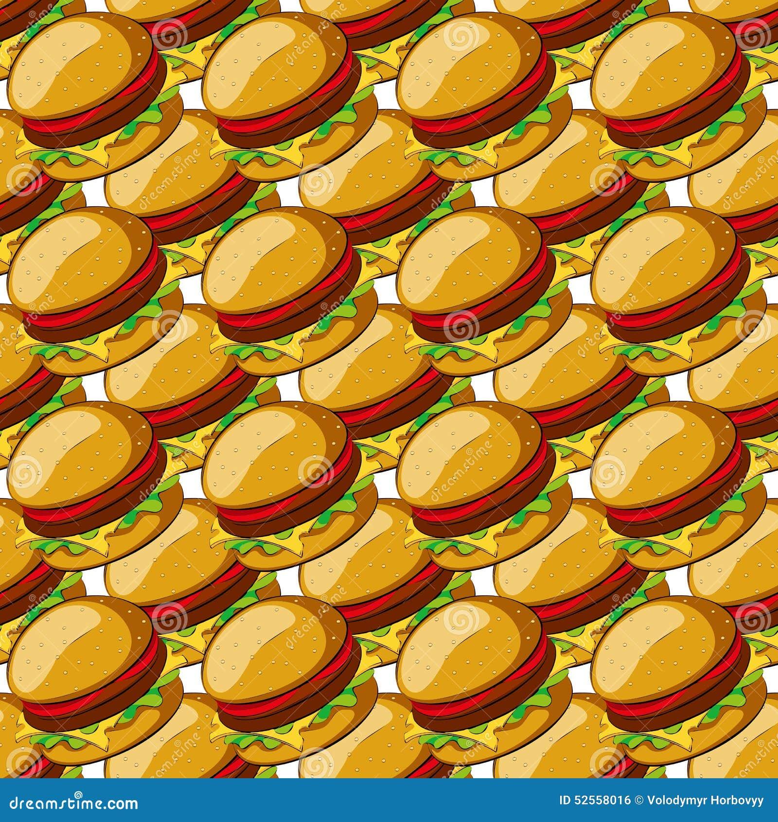 汉堡包无缝的样式 传染媒介例证剪贴美术.图片