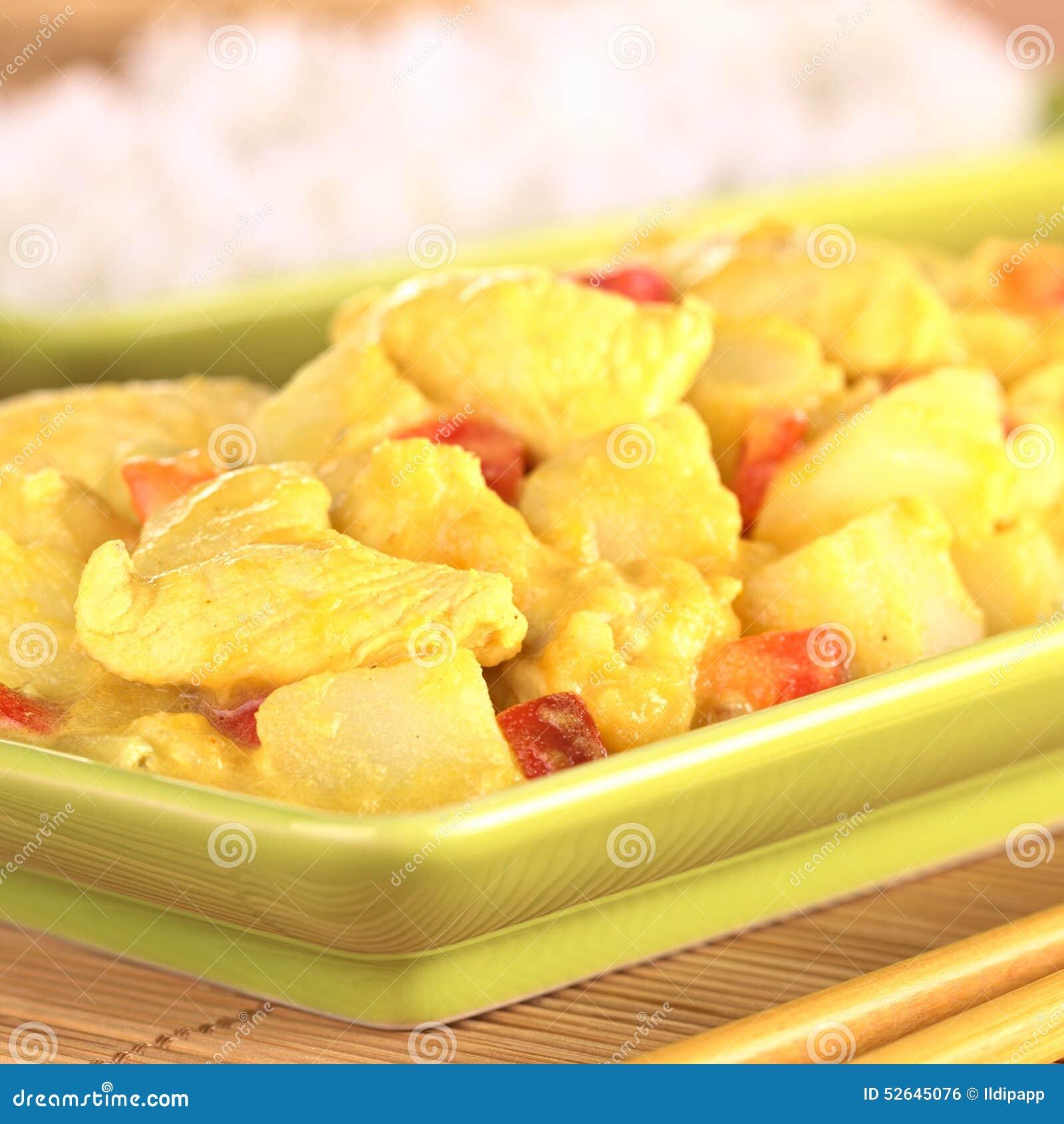 芒果�9il�..��y.�_no pr: no 1 17 0 库存照片: 鸡和芒果咖喱盘 id 52645076 © il