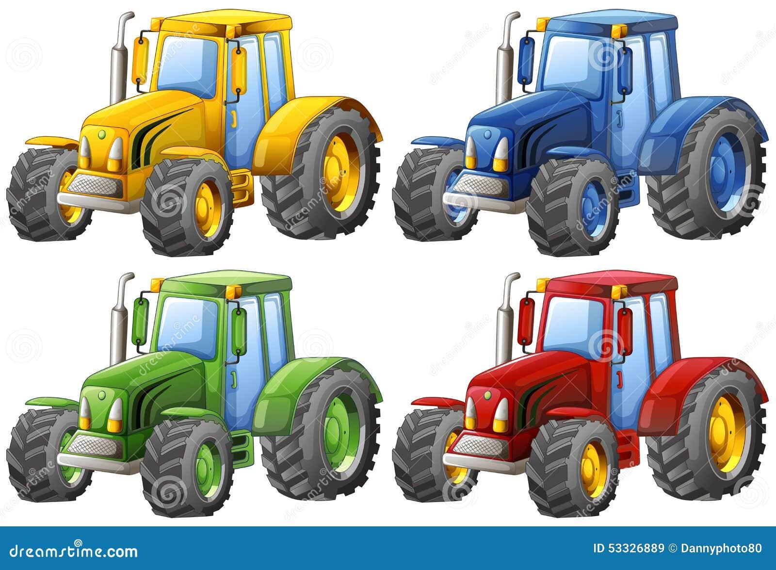 拖拉机 向量例证 - 图片图片
