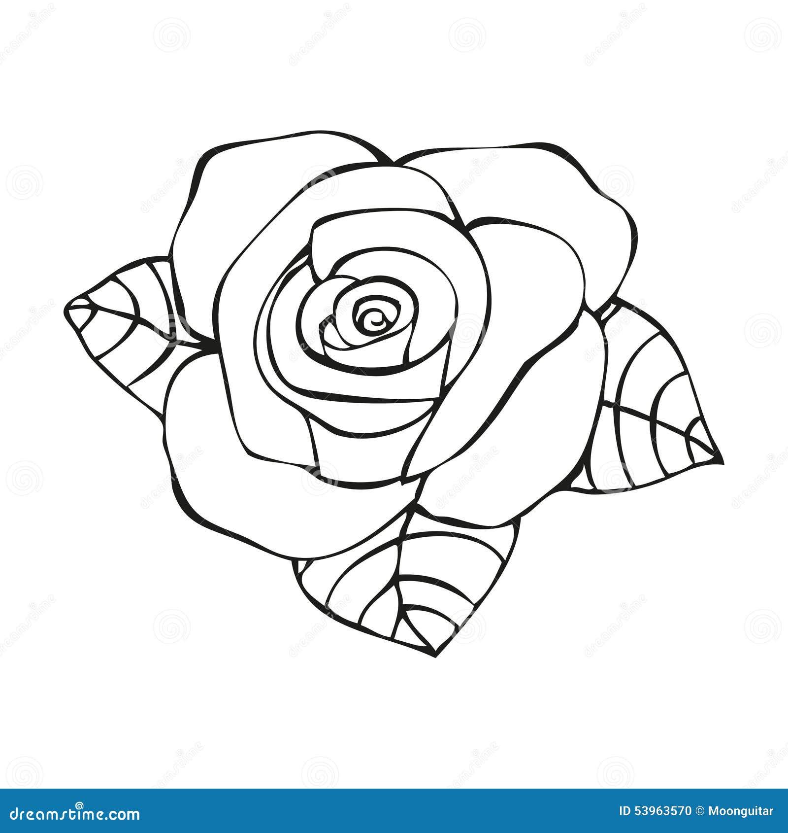 纹身花刺样式的罗斯 库存例证