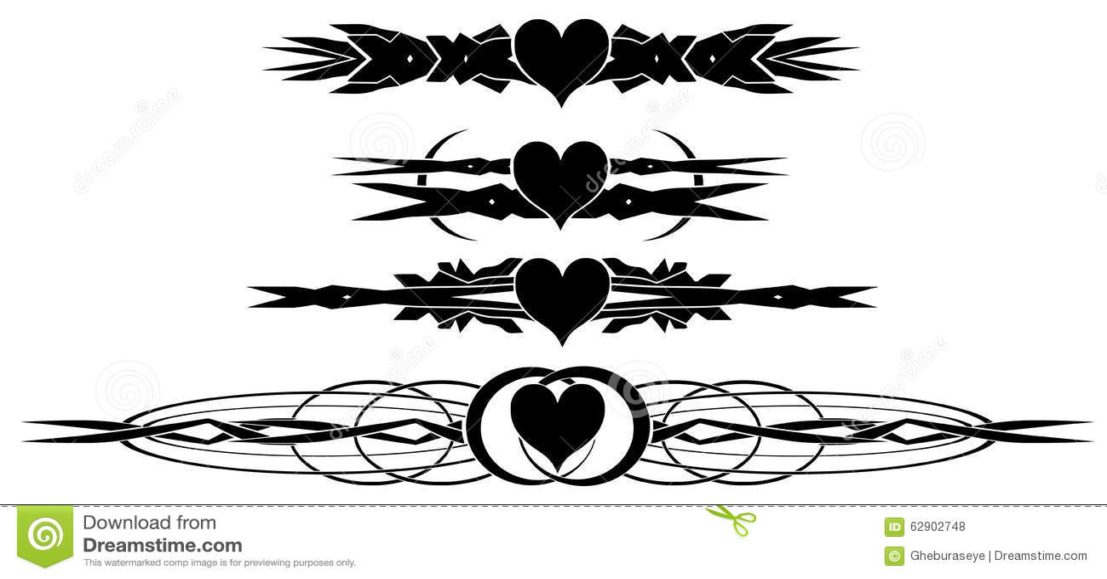 картинки татуировок сердец