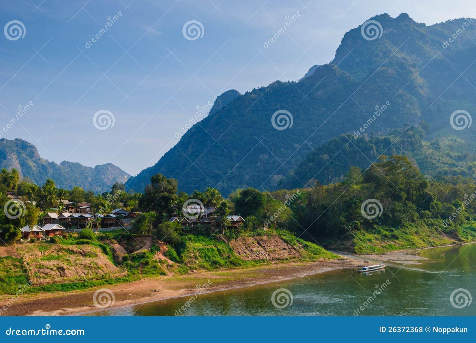 Nong khiaw Fluss, Nord von Laos