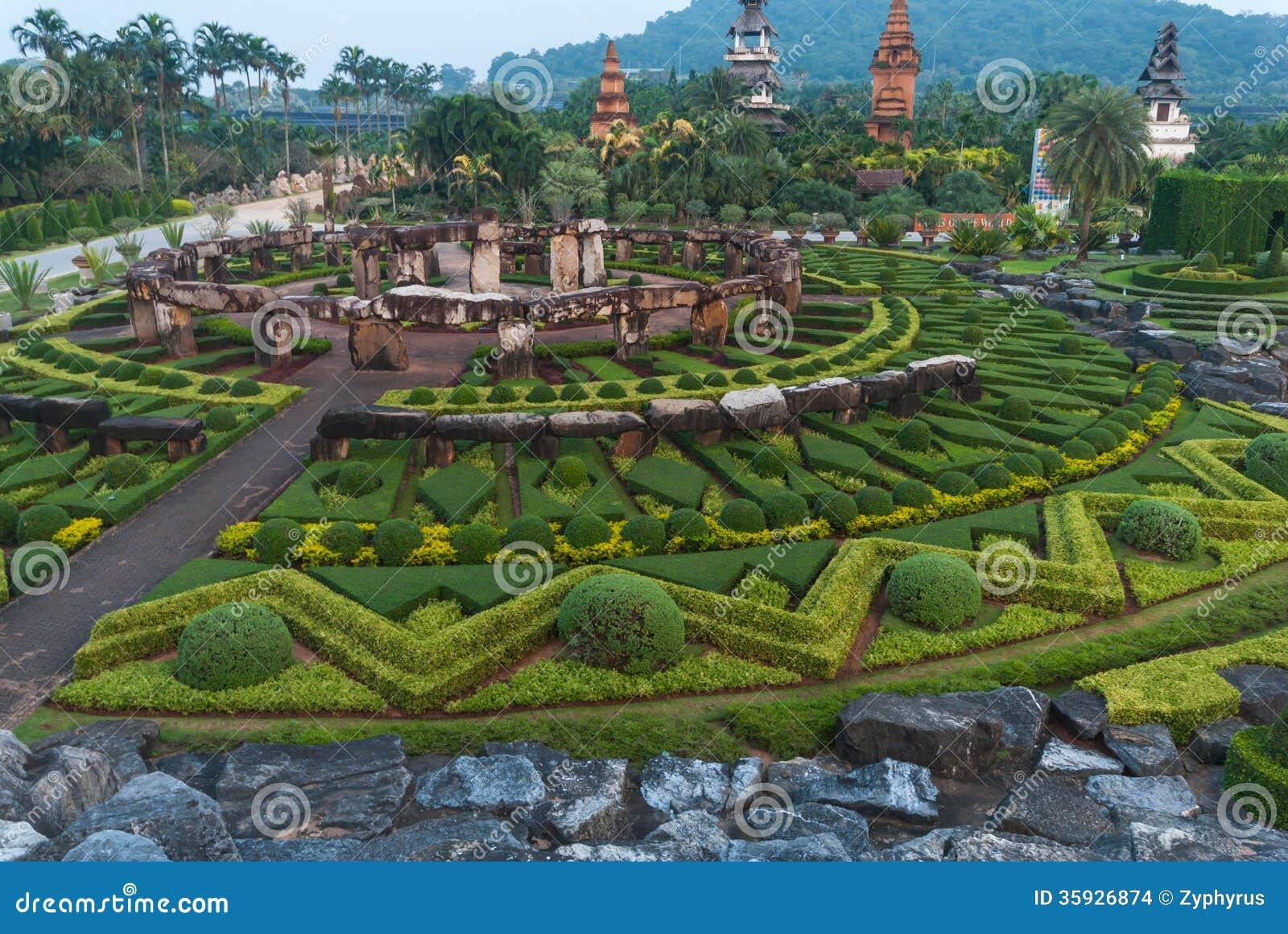 Nong Nooch Garden at Pattaya in Thailand.