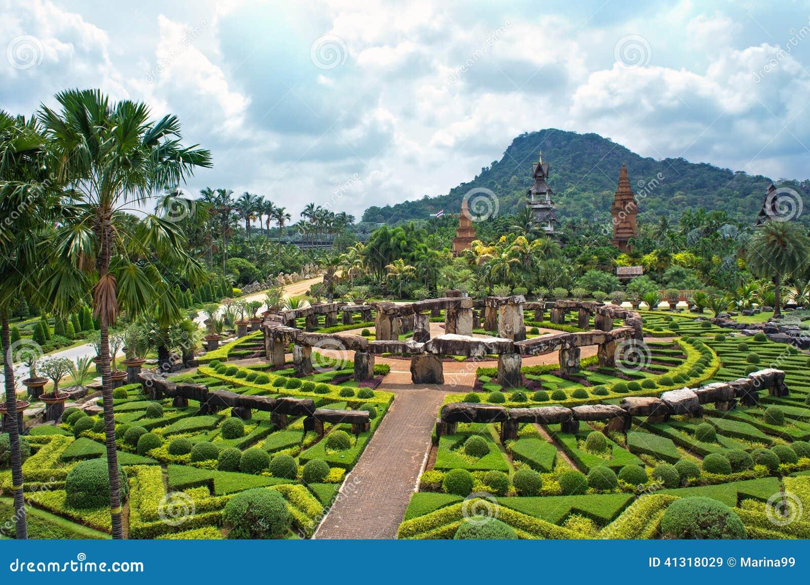 Nong Nooch Tropical Botanical Garden Pattaya Thailand Stock Image Image Of Fresh Nongnooch