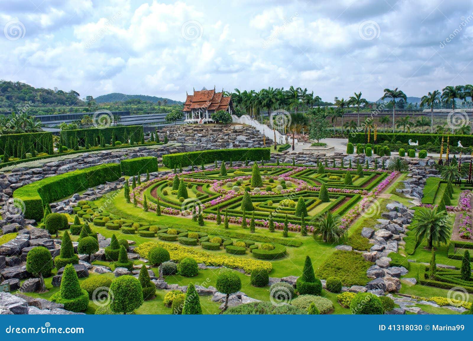 nong nooch tropical botanical garden, pattaya, thailand stock