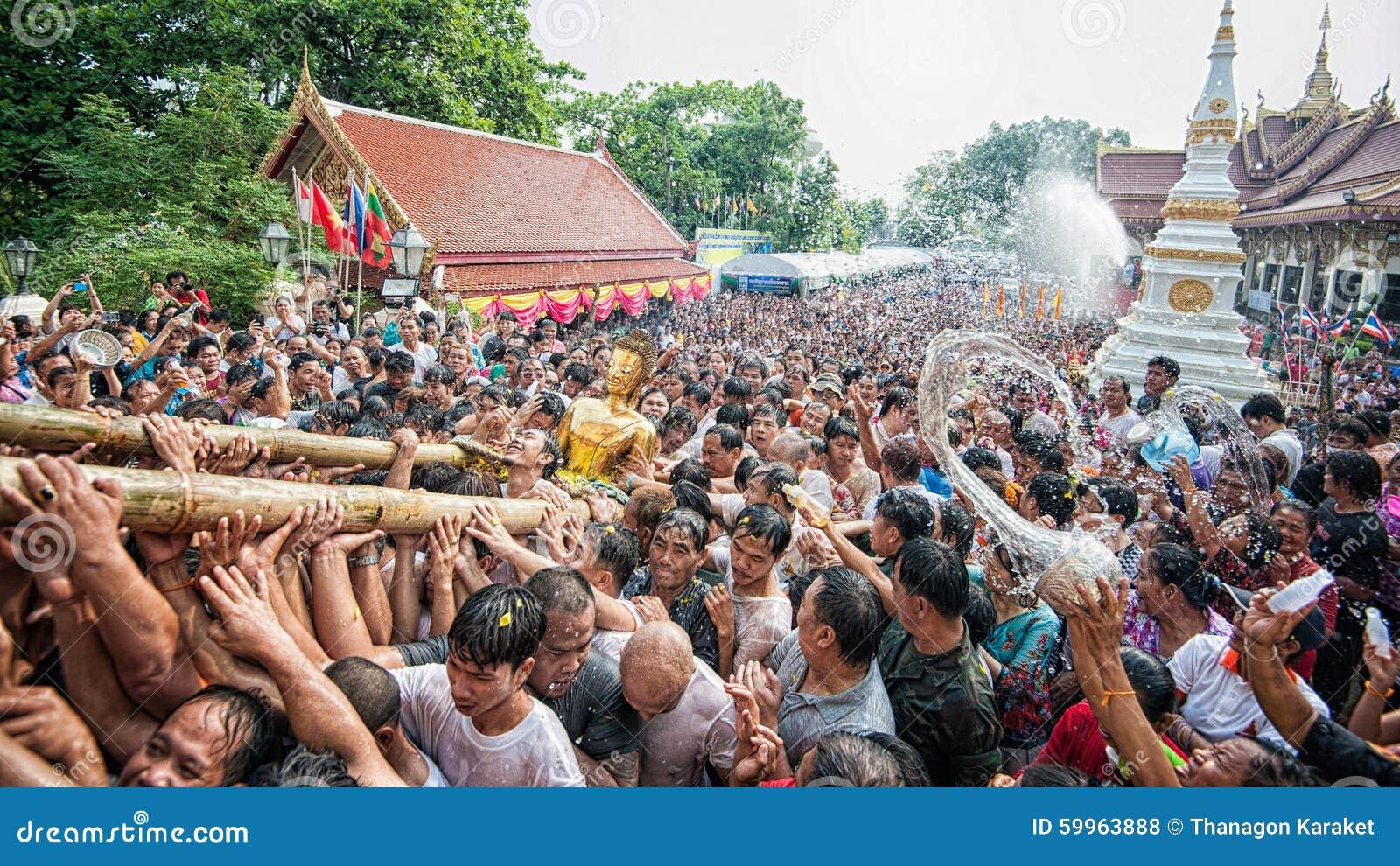 Nongkhai Thailand  city photos : NONGKHAI THAILAND APRIL 13: Songkran Festival, The people pour water ...