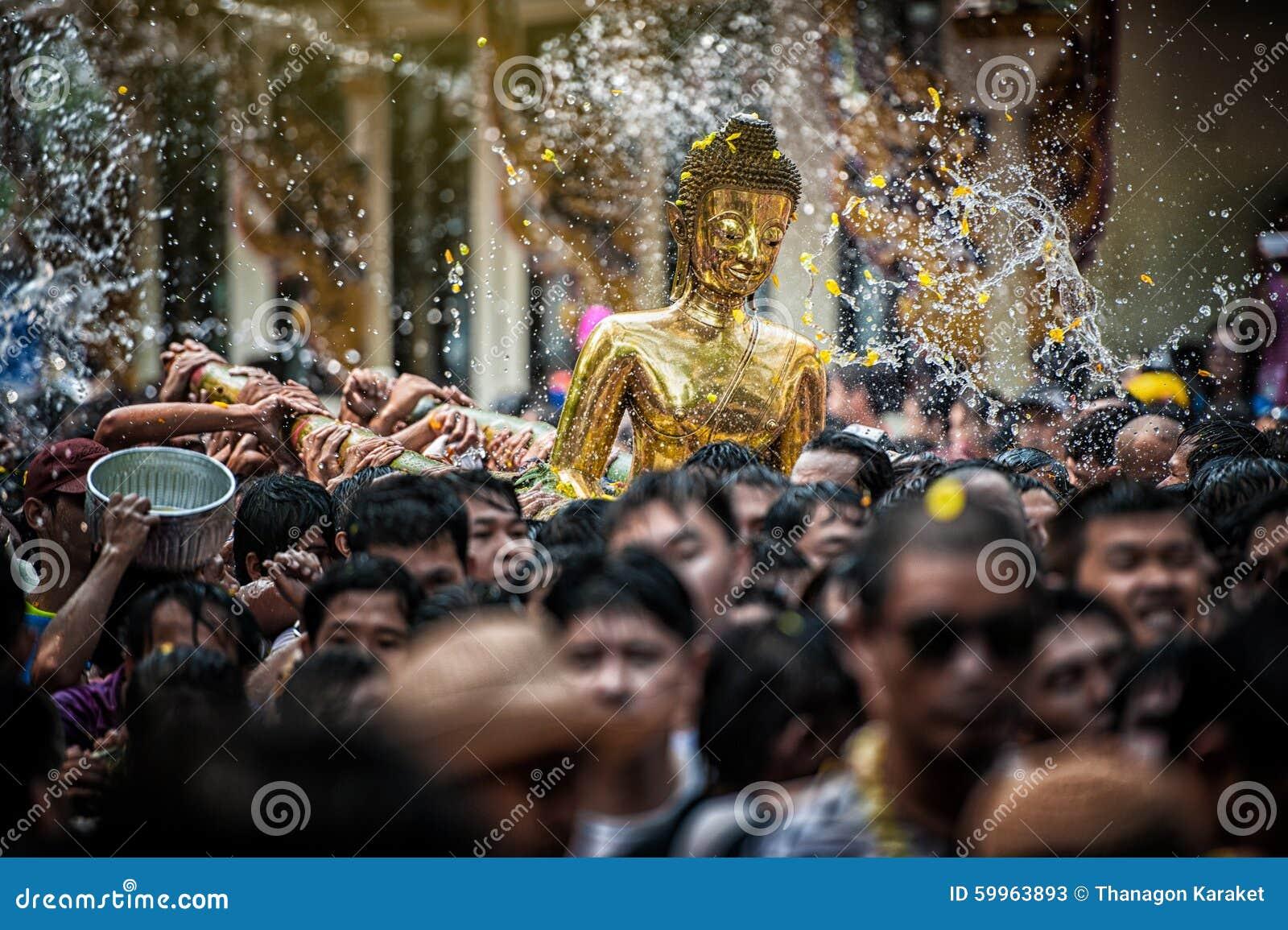 Nongkhai Thailand  city pictures gallery : NONGKHAI THAILAND APRIL 13: Songkran Festival, The people pour water ...