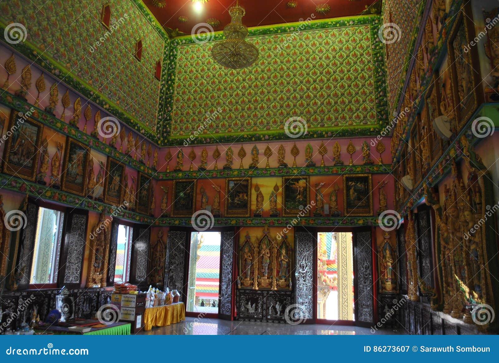 Nonthaburi buakwan Tailandia del wat budista del edificio de la penetración