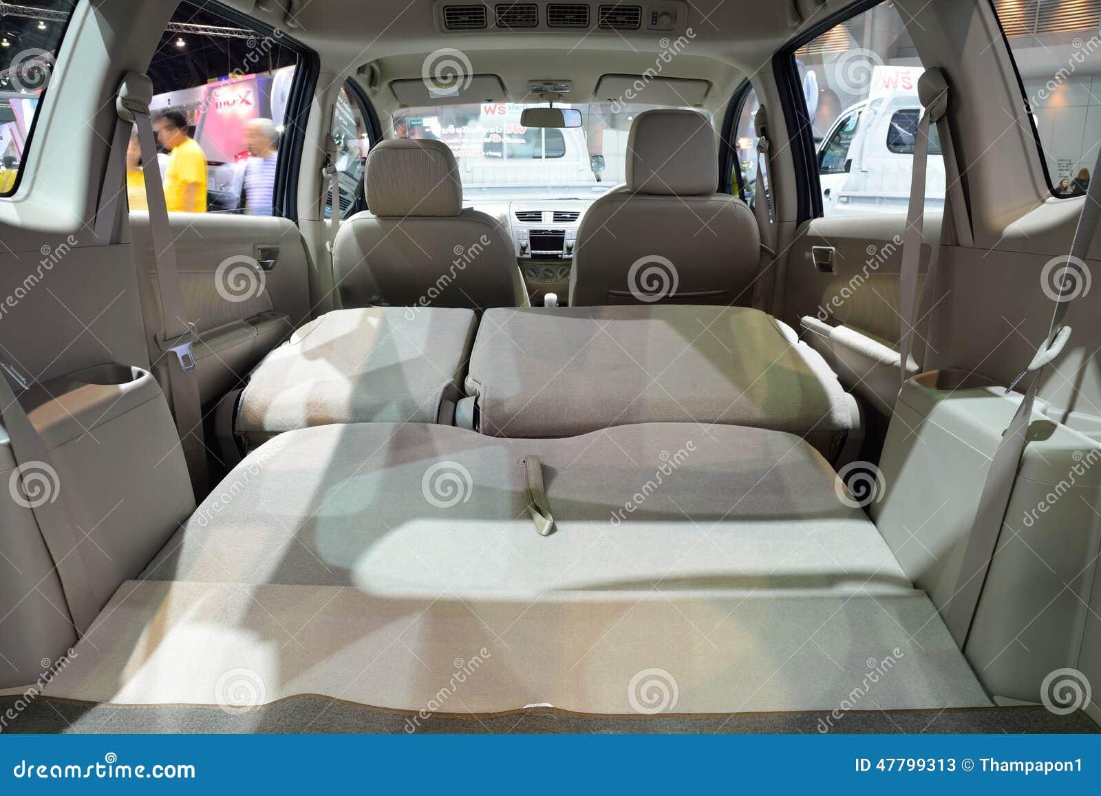 nonthaburi december 1 interior design of suzuki ertiga car di editorial stock photo image. Black Bedroom Furniture Sets. Home Design Ideas