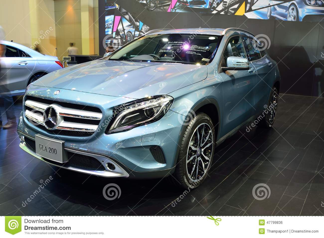 nonthaburi december 1 mercedes benz gla 200 car display. Black Bedroom Furniture Sets. Home Design Ideas