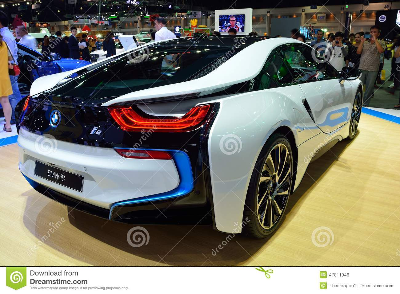 ... New BMW I8 Sports Car Display At Thaila Editorial Photo. Download Comp