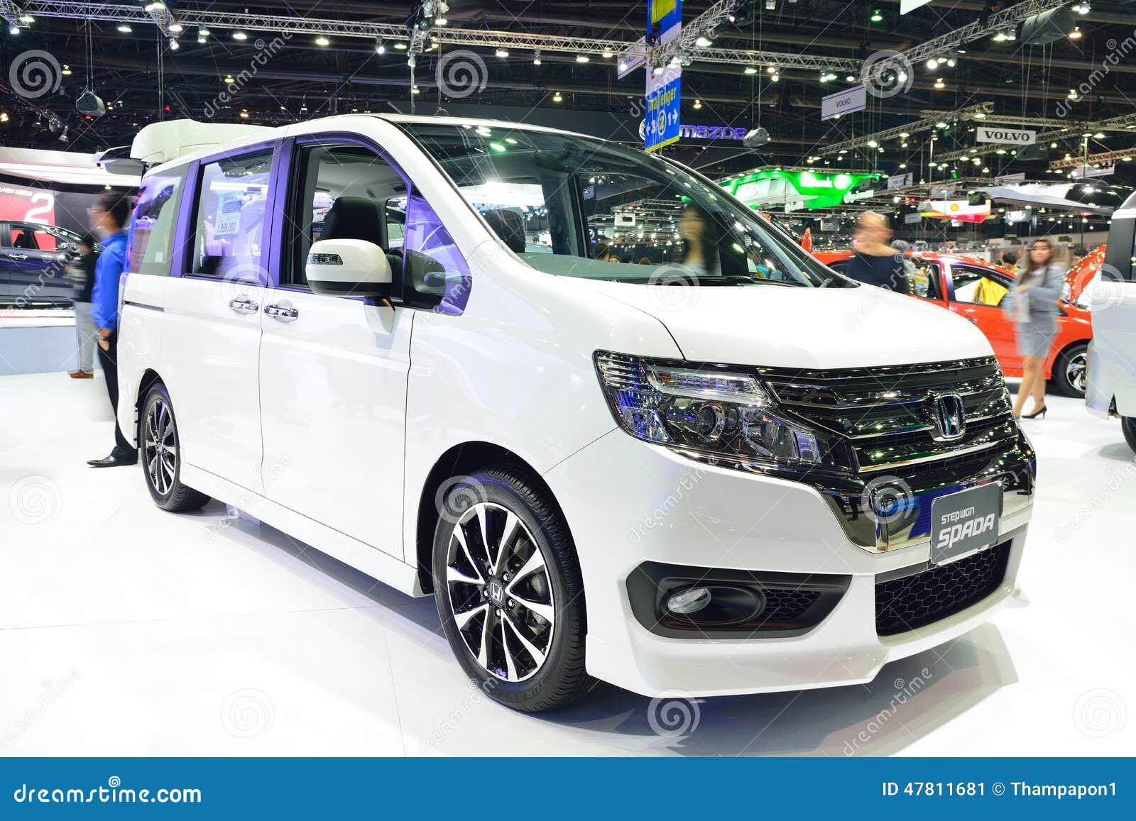 Nonthaburi December 1 New Honda Stepwagon Spada Car Display A