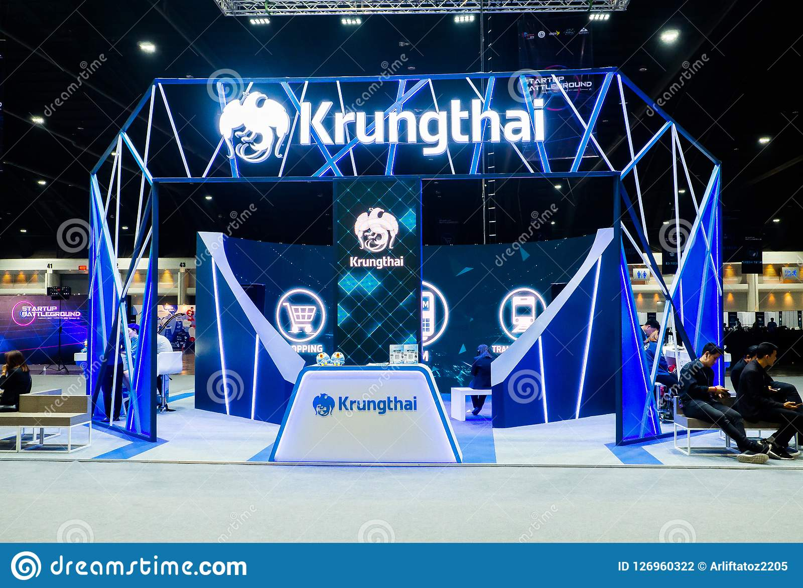 Exhibition Booth Photography : Krung thai or krungthai bank public company limited at exhibition