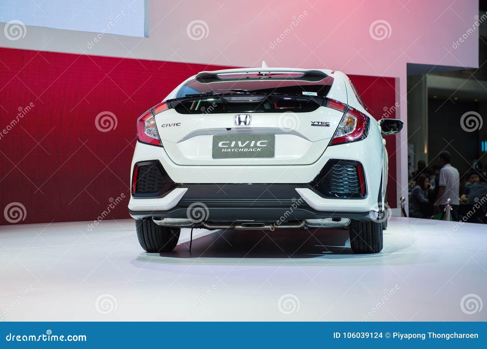 Nonthaburi Thailand December 9 2017 View Of All New Honda Civic