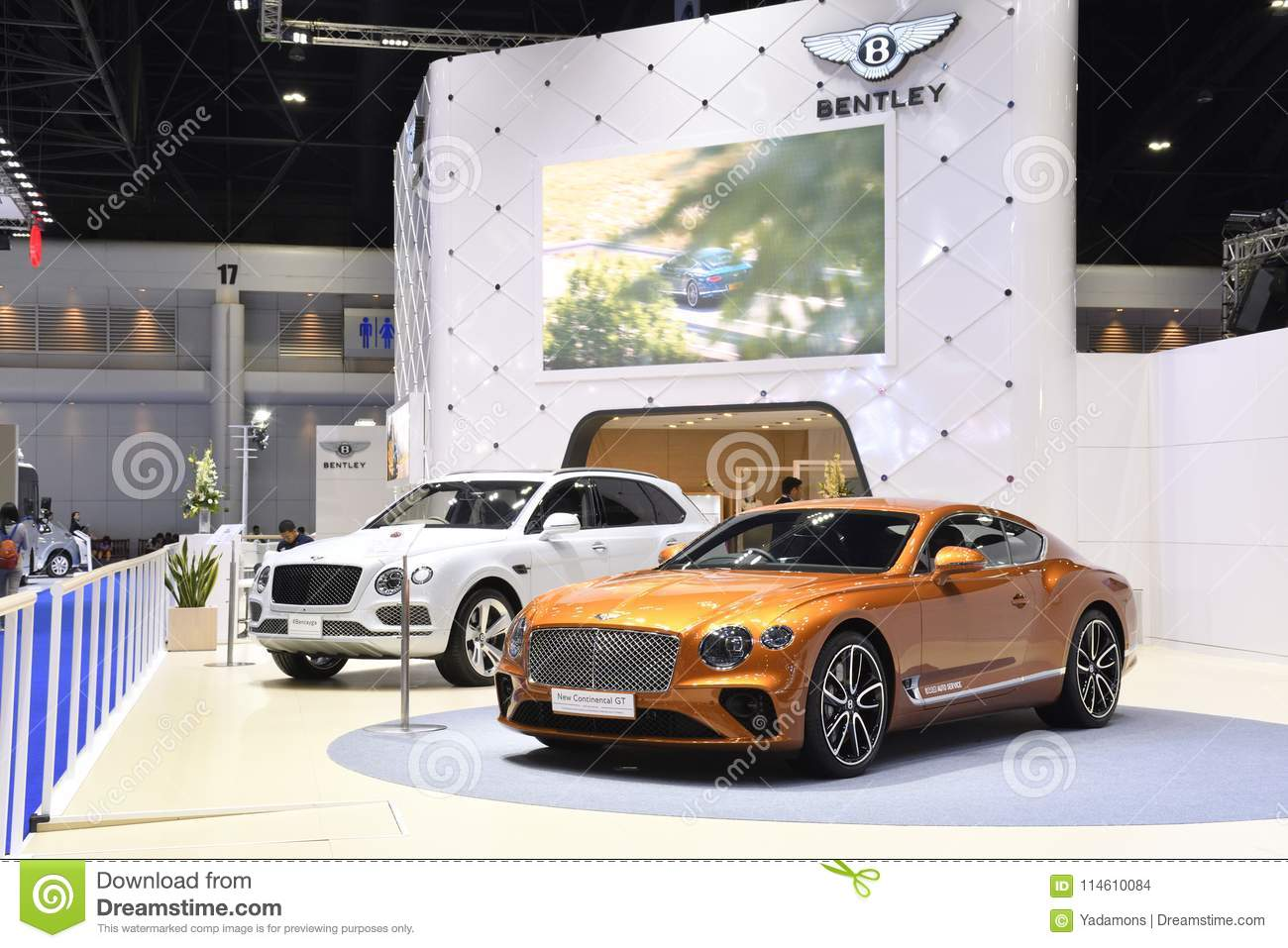The BENTLEY exhibition booth at THE 39th BANGKOK INTERNATIONAL MOTOR SHOW 2018