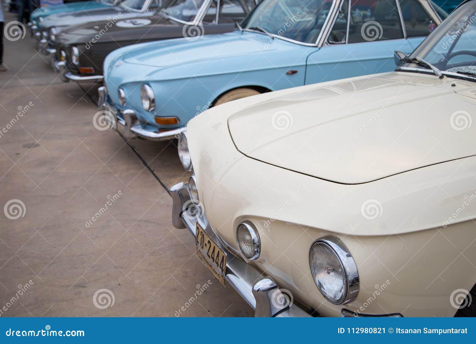 VW Karmann Ghia Type 34 show in VW club meeting