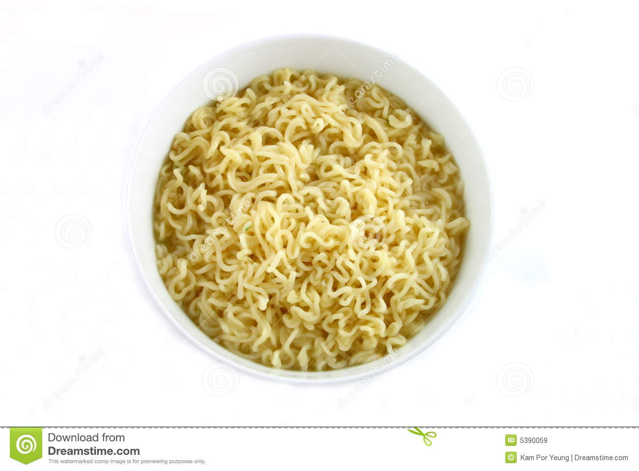 Bowl Of Curly Noodles Royalty Free Stock Images Image