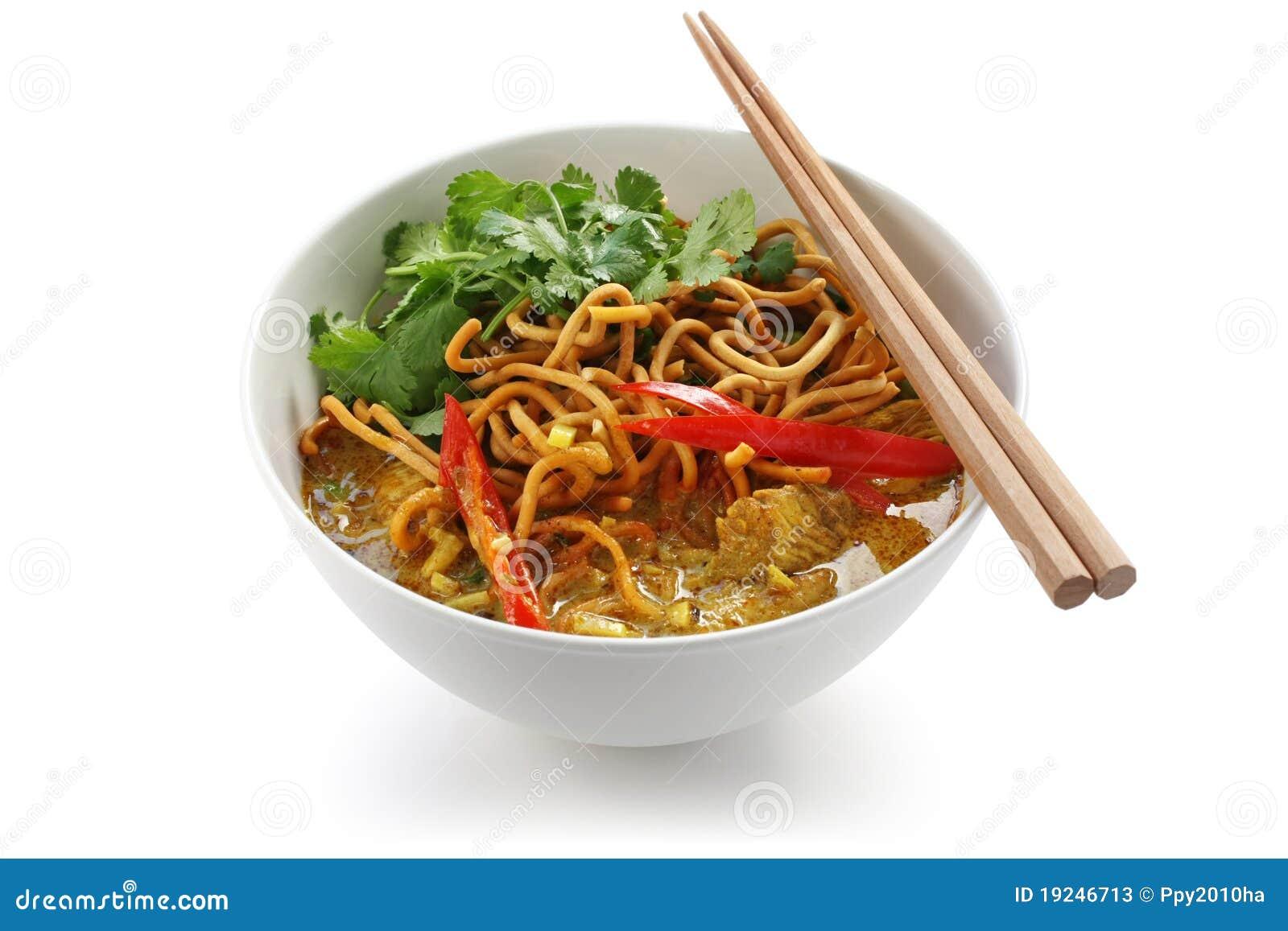 Noodles khao τροφίμων κάρρυ soi Ταϊλανδό&sig
