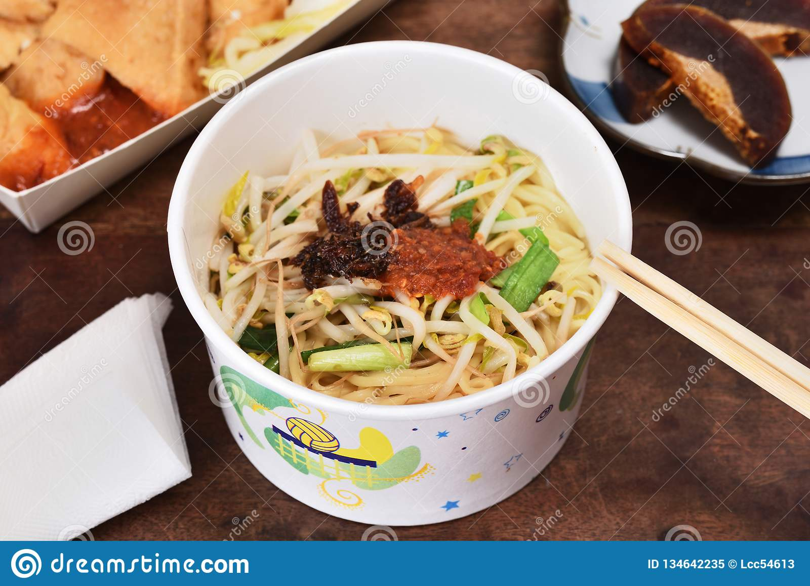 Takeaway Carton Bowl Noodles Stock Image Image Of Cuisine Dish