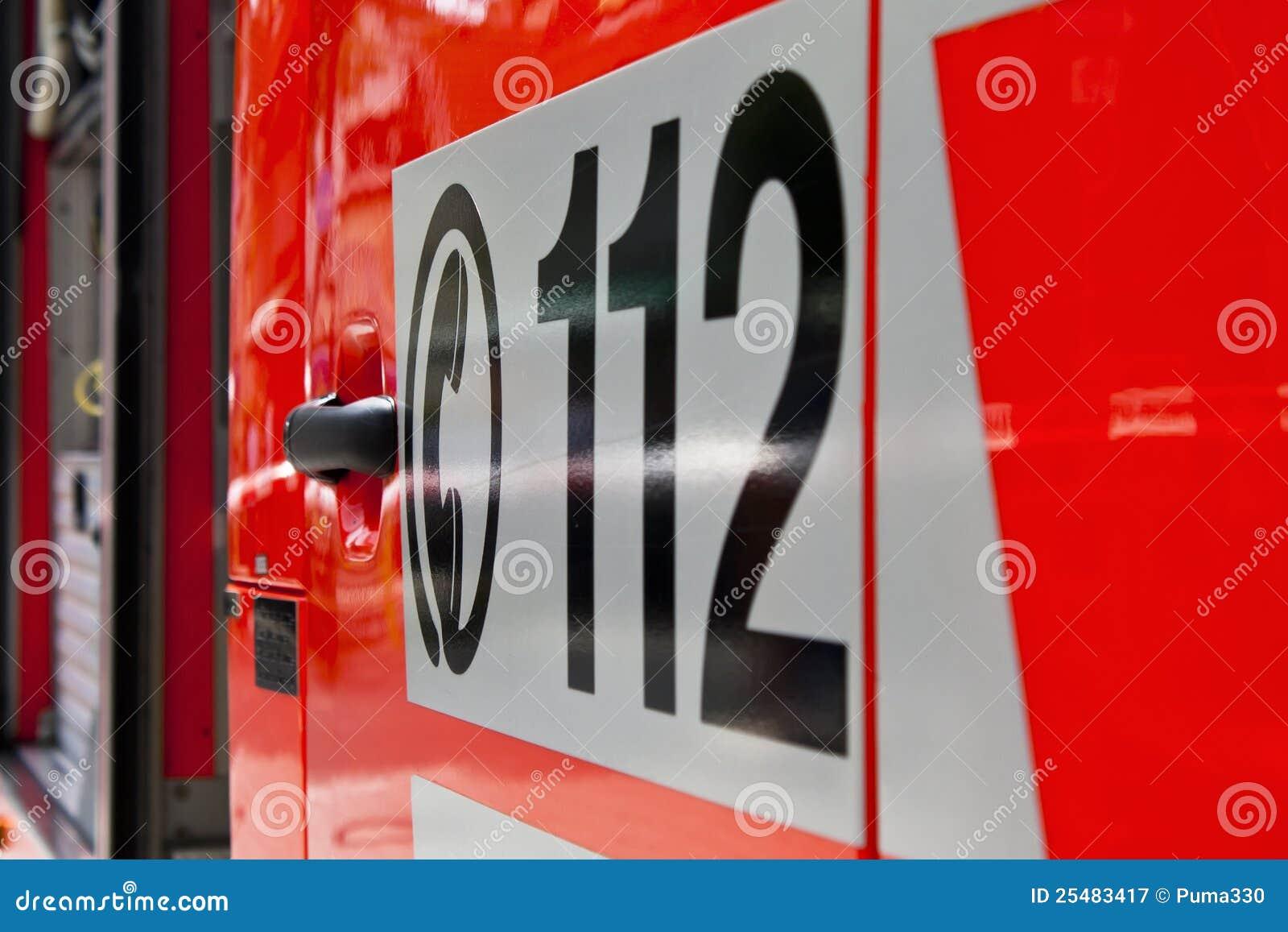 Noodoproep 112 op een ziekenwagen